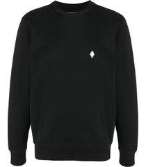 marcelo burlon county of milan cross crew-neck sweatshirt - black