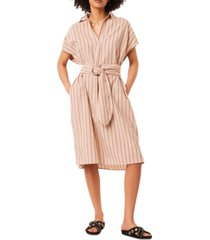 french connection verve striped belted dress