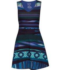 vest duna korte jurk blauw desigual