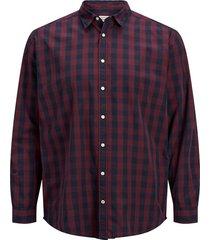 plus size overhemd gingham-ruit