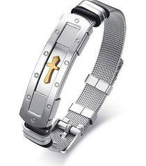 pulsera manilla hombres acero inoxidable 18.5cm 82374
