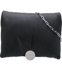 diesel logo buckle shoulder bag - black