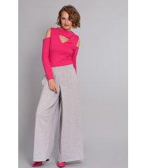 spodnie it-girl szare