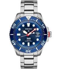 seiko men's prospex solar diver padi-edition stainless steel bracelet watch 44mm sne435
