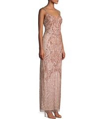 embellished column gown