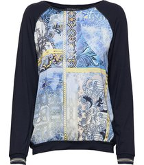 shirt short 1/1 sleeve blus långärmad blå betty barclay