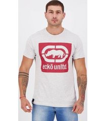 camiseta ecko savana ii estampada cinza mescla - masculino