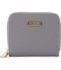 furla women's leather zip-around wallet - onice