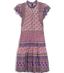 bianca tiered tunic dress in violet