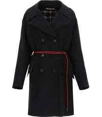 marni wool and cashmere pea coat with belt
