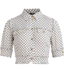 shirt elisabetta franchi with buckles print