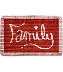 capacho carpet family vermelho ãšnico love decor - vermelho - dafiti