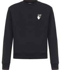 off-white pascal arrows cotton sweatshirt