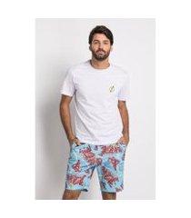 pijama acuo the flash curto meia malha e moletinho masculino