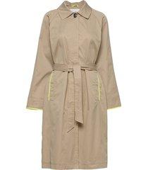 coats woven trenchcoat lange jas beige edc by esprit