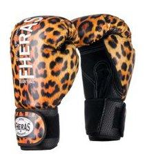 luva boxe muay thai new top onça fheras 14 oz