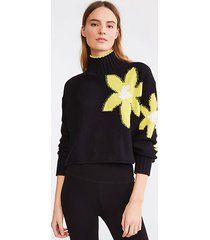 lou & grey bloom cropped sweater