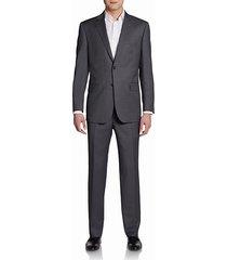 classic-fit pinstripe wool & silk suit