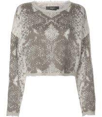 snakeskin knitted sweater