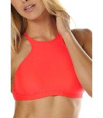 bikini sosten surfside neon macram rojo billabong