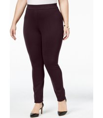 style & co plus size seamed ponte-knit leggings, created for macy's