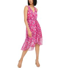 inc mosaic-floral chiffon dress, created for macy's