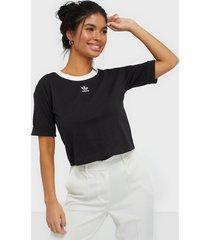 adidas originals crop top t-shirts black/white