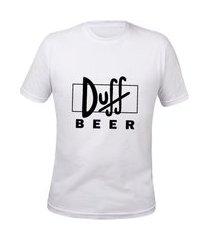 camisa simpsons duff beer masculina basica algodão camiseta tshirt