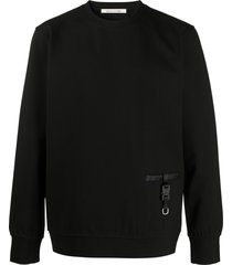 1017 alyx 9sm buckle-detail sweatshirt - black