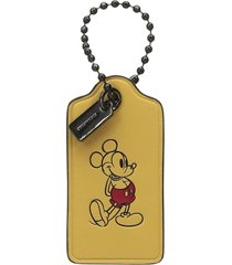 nwt original box coach 56626 mickey canary leather hangtag bag charm key chain