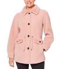 kate spade new york faux-fur anorak coat