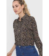 camisa camel zaf