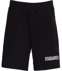 dsquared2 icon bermuda shorts in black jersey