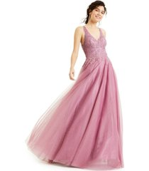 say yes to the prom juniors' tulle embroidered gown, created for macy's