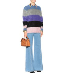 women's albah mohair and wool-blend multistripe oversize sweater