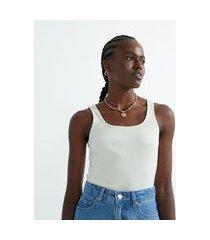 blusa regata canelada em algodão com decote quadrado | blue steel | rosa claro | m