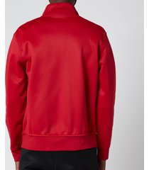 polo ralph lauren men's lux full zip track top - ralph red - m