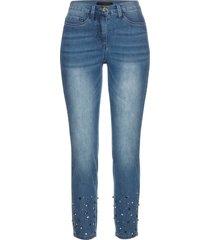 superstretchiga jeans med strasstenar