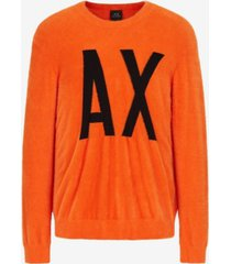 ax armani exchange long sleeve logo sweater