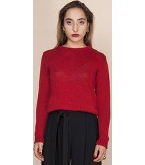 sweter klasyczny gładki czerwony