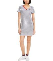 tommy hilfiger cotton striped dress