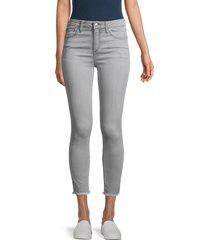 joe's jeans women's mid-rise skinny jeans - grey - size 32 (10-12)