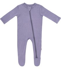 infant girl's kyte baby zip-up footie, size 0-3m - purple