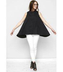 trapezowa bluzka danielle w czarnym kolorze