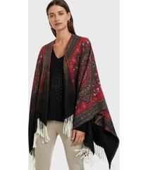 poncho heritage reversible multicolor desigual