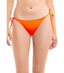 bikini calzón colaless con amarras naranja samia