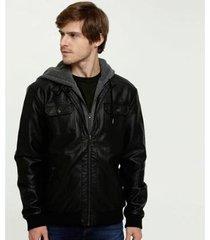 jaqueta mr capuz manga longa masculina