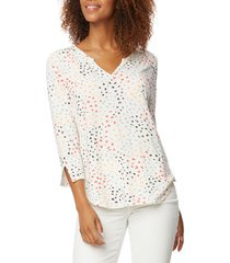 women's nydj perfect top, size xx-small regular - white