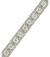 greek key bracelet in gold plated brass