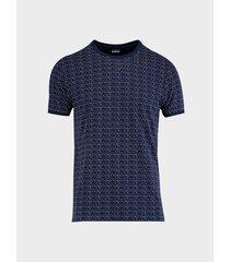 camiseta textura cuello redondo para hombre 08691